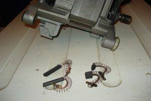 Замена электрощеток двигателя в стиральной машине БОШ