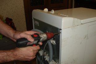 Разбор корпуса стиральной машины