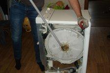 Стиральная машина Zanussi откручивание подшипника
