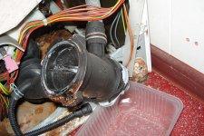 Съем сливного насоса стиральной машины BOSCH