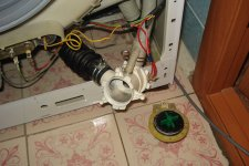 Снятие сливного насоса со стиральной машины Beko