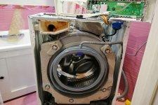 Стиральная машина Электролюкс без передней крышки
