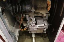 Съем двигателя стиральной машины БОШ