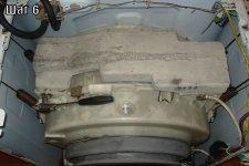 Съем бункера и утяжелителя из стиральной машины
